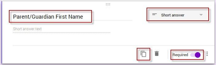 Google Form add question